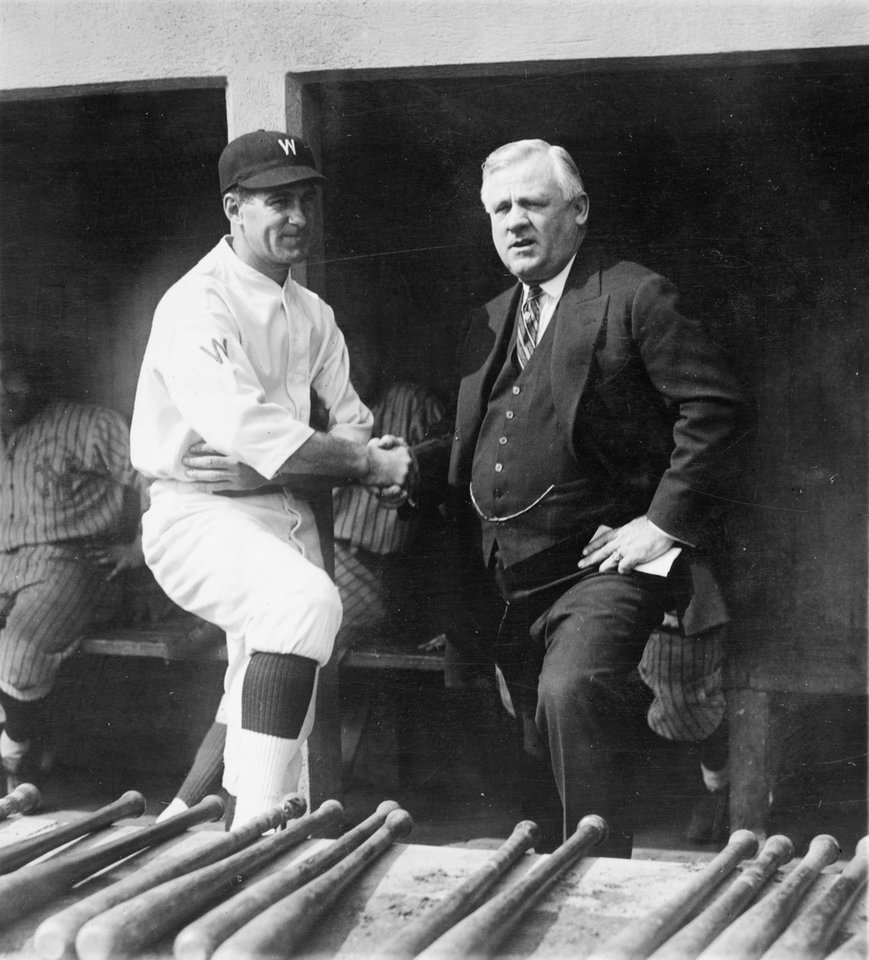 Photo -   In this Oct. 4, 1924, photo made available by the Library of Congress, Washington Senators manager Stanley
