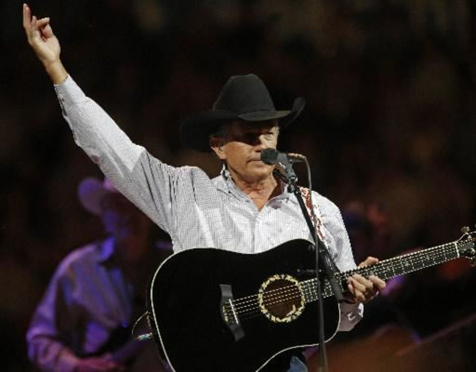 "George Strait performs during ""The Cowboy Rides Away Tour"" at Chesapeake Energy Arena on Saturday, Jan. 19, 2013. Photos by Bryan Terry, The Oklahoman"