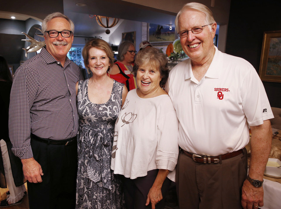 Photo - Tim and Lela Robison, Karen and Greg Mahaffey. PHOTO BY STEVE SISNEY, THE OKLAHOMAN