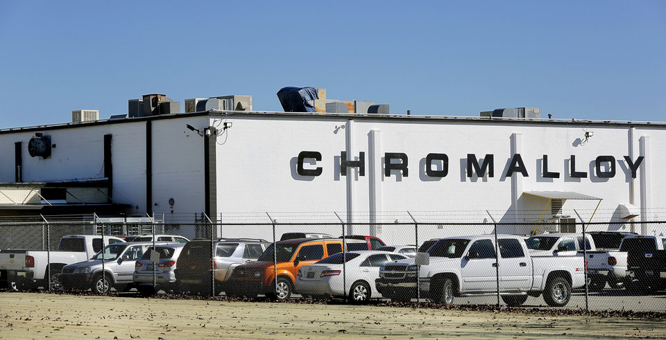Photo - Chromalloy plant, 1720 National Blvd.  in Midwest City on Thursday, Jan. 17, 2013.   Photo by Jim Beckel, The Oklahoman  Jim Beckel - THE OKLAHOMAN