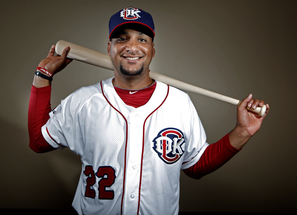 MINOR LEAGUE BASEBALL: Oklahoma City's Carlos Corporan poses for a photograph during media day for the Oklahoma City RedHawks in Oklahoma City, Tuesday, April 3, 2012. Photo by Sarah Phipps, The Oklahoman