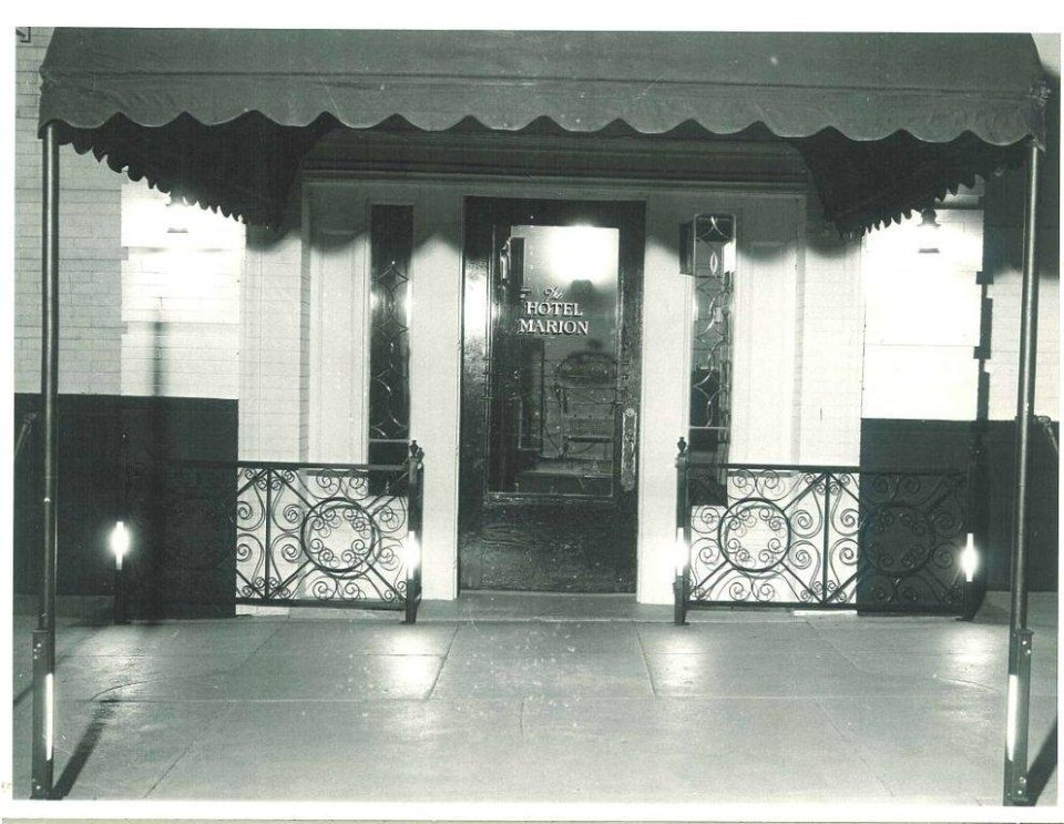 Photo -  This photograph of the entry to the Marion Hotel may be one of the oldest surviving images of the 110-year-old landmark at 110 NW 10. Photo provided by the Oklahoma Historical Society    Courtesy Oklahoma Historical Society