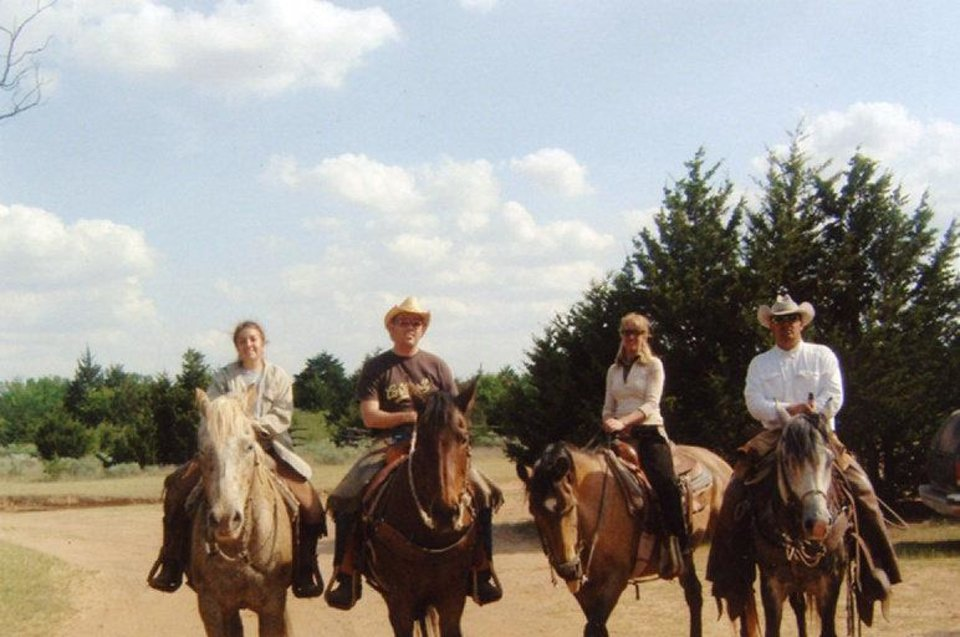 Photo - Guest at Island Guest Ranch near Ames enjoy riding horses. The ranch is  in northwest Oklahoma. Photo provided