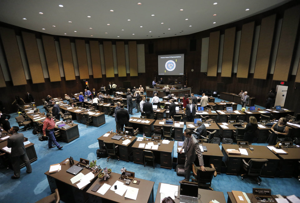 Photo - The Arizona House meets during a special session for Medicaid funding on Thursday, June 13, 2013, in Phoenix. (AP Photo/Matt York)