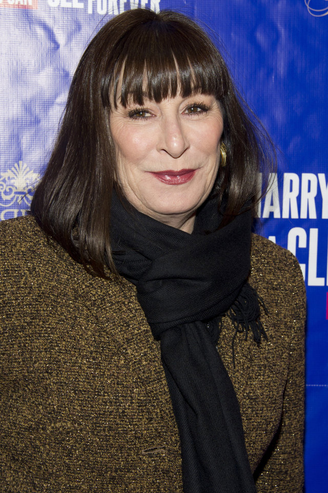 Photo - FILE - In this dec. 11, 2011 file photo, Anjelica Huston attends the opening night performance of the Broadway musical