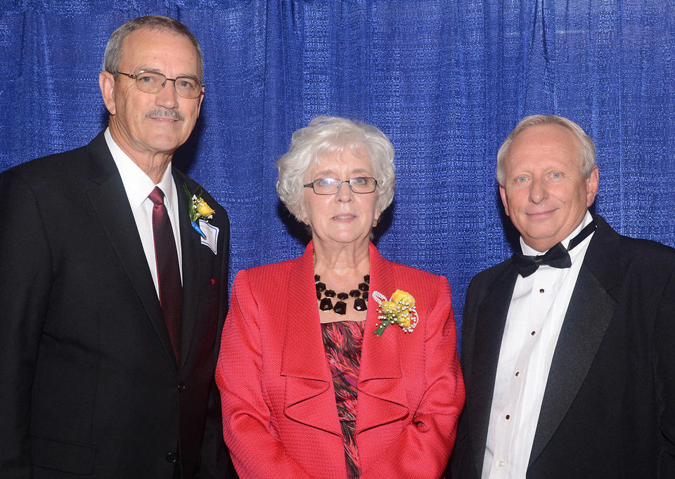 Photo - Honorees Steven Crawford, Nancy O'Donnell, and Lloyd Snow. Photo by David Faytinger, for The Oklahoman