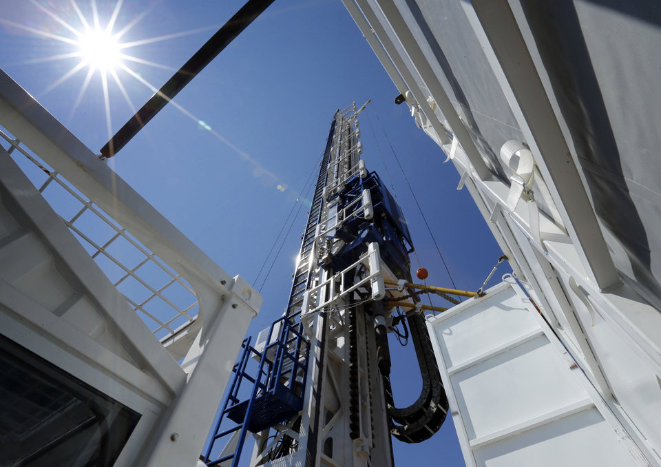 Photo - Enid-based GEFCO Inc. and Oklahoma City-based Oklahoma Rig Fabricators LLC recently completed this drilling rig, which was custom designed to meet the demands of a harsh and varied climate in Kazakhstan. PHOTO BY STEVE SISNEY, THE OKLAHOMAN  STEVE SISNEY