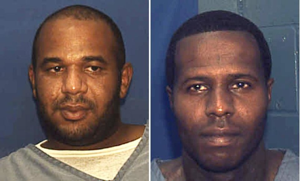 Photo - This undated combo of photos provided by the Florida Department. of Corrections shows Joseph Jenkins, left and Charles Walker. Walker and Joseph Jenkins were mistakenly released from prison in Franklin County, Fla.,  in late September and early October.  According to authorities, the the two convicted murderers were released with forged documents. A manhunt is under way for the two men. (AP Photo/Florida Department. of Corrections)