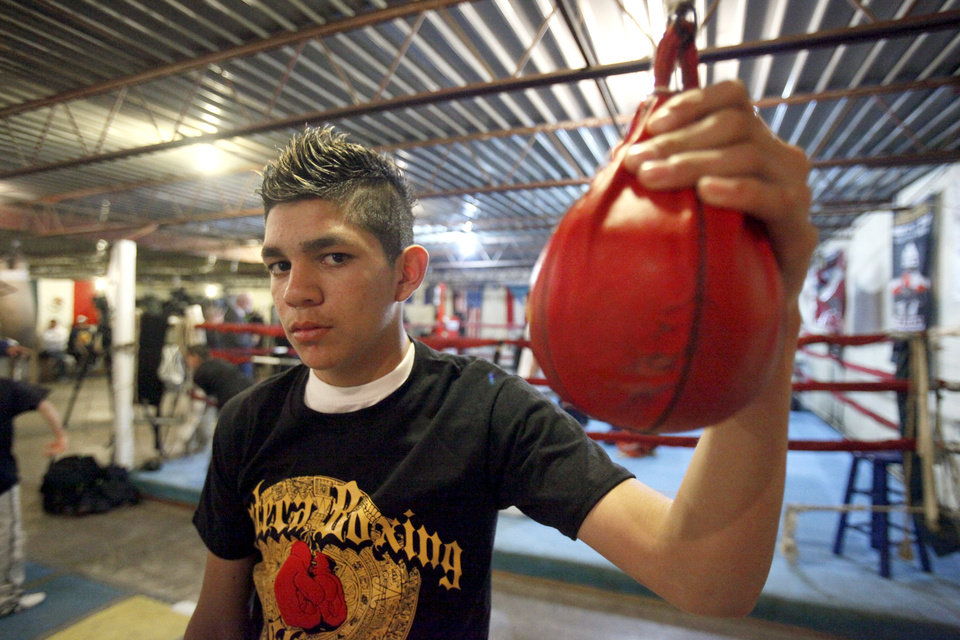 Alex (Juan) Saucedo poses for a photo at the Azteca Gym, Wednesday, Jan. 21, 2009, in Oklahoma City. PHOTO BY SARAH PHIPPS, THE OKLAHOMAN