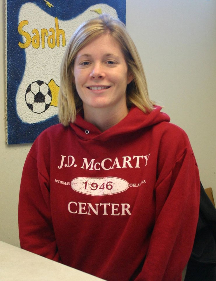 Sarah Michner has been named the new volunteer coordinator at the J. D. McCarty Center for children with developmental disabilities in Norman.<br/><b>Community Photo By:</b> Greg Gaston<br/><b>Submitted By:</b> Greg, Norman