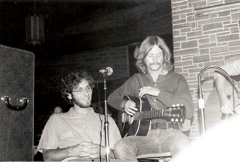 Photo - Robert Young, left, and Greg Dennis performing at Knox College in Illinois in 1971. PHOTO PROVIDED.
