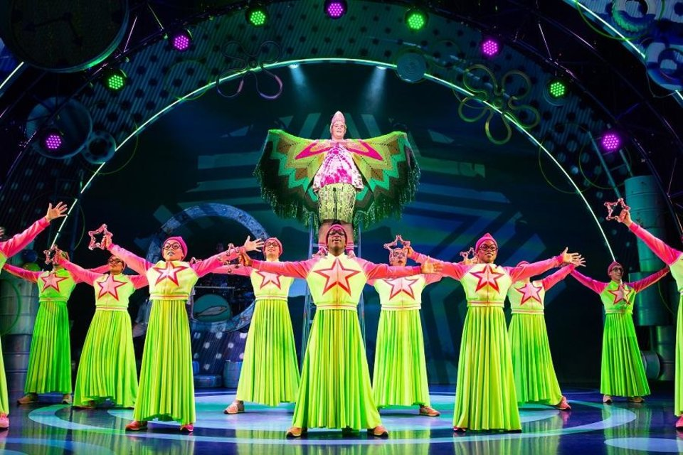 Photo - Beau Bradshaw as Patrick Star, top center, and the company of