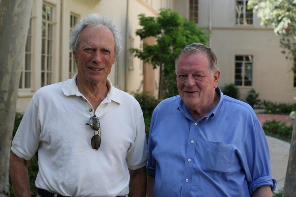 Photo -  Clint Eastwood and Richard Schickel