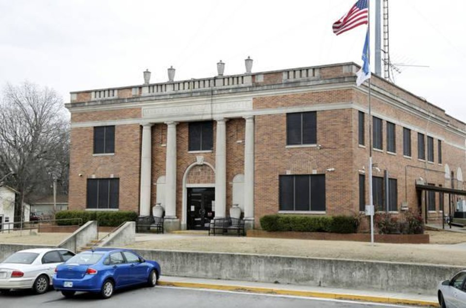 Photo -  The north entrance to the Murray County Courthouse in Sulphur. [Photo by Jim Beckel, The Oklahoman]
