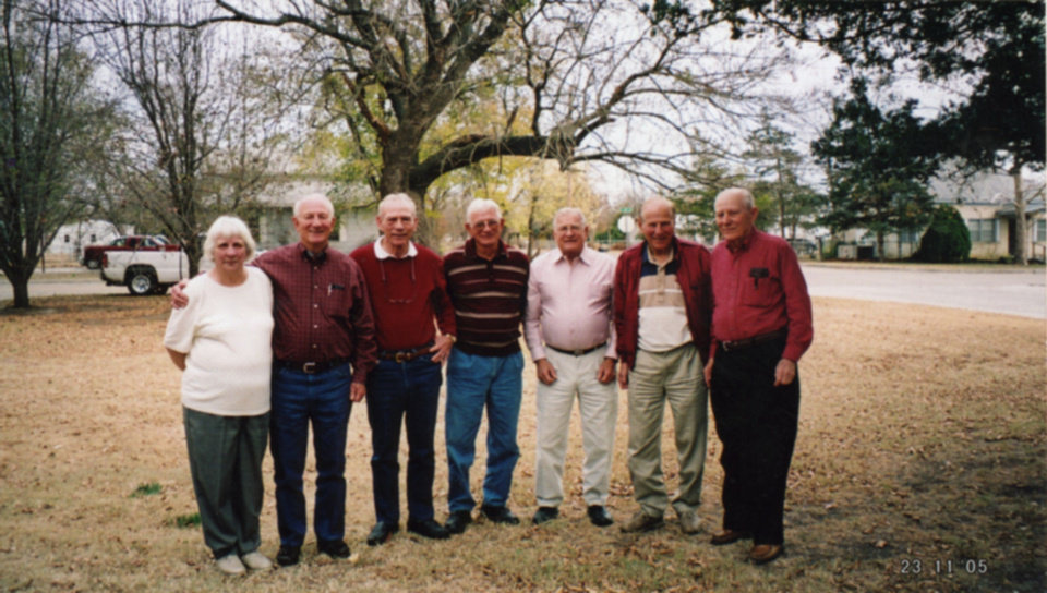 Norma Jean, Stanley, Charles, Jack, Bennie, James and OC Funderburg <strong>Courtesy</strong>