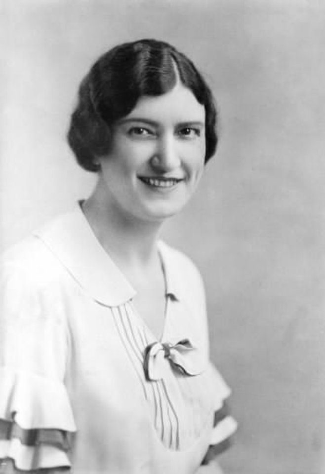 Photo -  Former Oklahoma Art Center director Nan Sheets is shown in a 1933 photo. In 1920, Sheets opened her home, The Elms, as an art gallery. Joy Reed Belt is celebrating the 10th anniversary of her gallery, JRB Art at the Elms, in Sheets' former home. The Oklahoman Archives photo