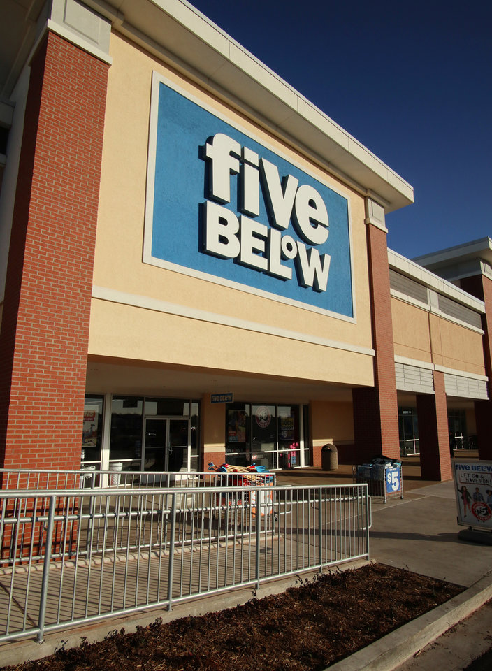 Photo -  Price Edwards & Co. says retail tenants that are expanding continue to be the same general restaurants and value-oriented stores that have been growing the past few years, such as the Five Below at Bryant Square Shopping Center in Edmond. [PHOTO BY DOUG HOKE, THE OKLAHOMAN]