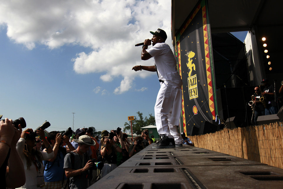 Photo -   Mystikal performs at the New Orleans Jazz and Heritage Festival in New Orleans, Friday, May 4, 2012. (AP Photo/Gerald Herbert)