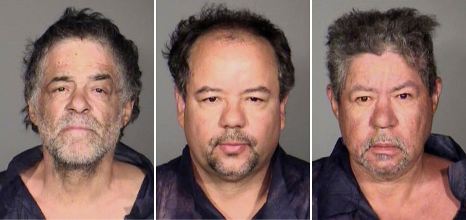 Photo - This undated combination photo released by the Cleveland Police Department shows from left, Onil Castro, Ariel Castro, and Pedro Casto.The three brothers were arrested Tuesday, May 7, 2013, after three women who disappeared in Cleveland a decade ago were found safe Monday. The brothers are accused of holding the victims against their will. (AP Photo/Cleveland Police Department)