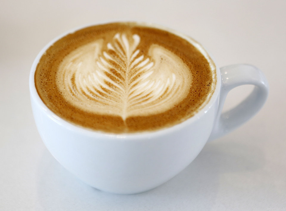 A fresh latte at Kitchen 324 in Oklahoma City. <strong>Steve Gooch - The Oklahoman</strong>
