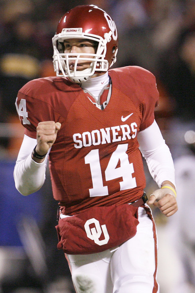 Heisman winner Sam Bradford has become a more vocal leader for the Sooners. PHOTO BY NATE BILLINGS, THE OKLAHOMAN