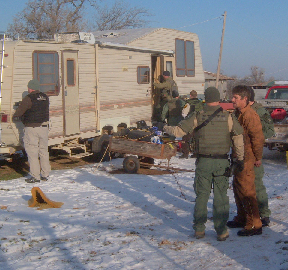 Photo - Law enforcement officers arrested 11 people Wednesday and were seeking a dozen more in an effort to break up a methamphetamine distribution ring in Lindsay that allegedly moved as much as two pounds of the drug a week to local dealers and users. Photo provided