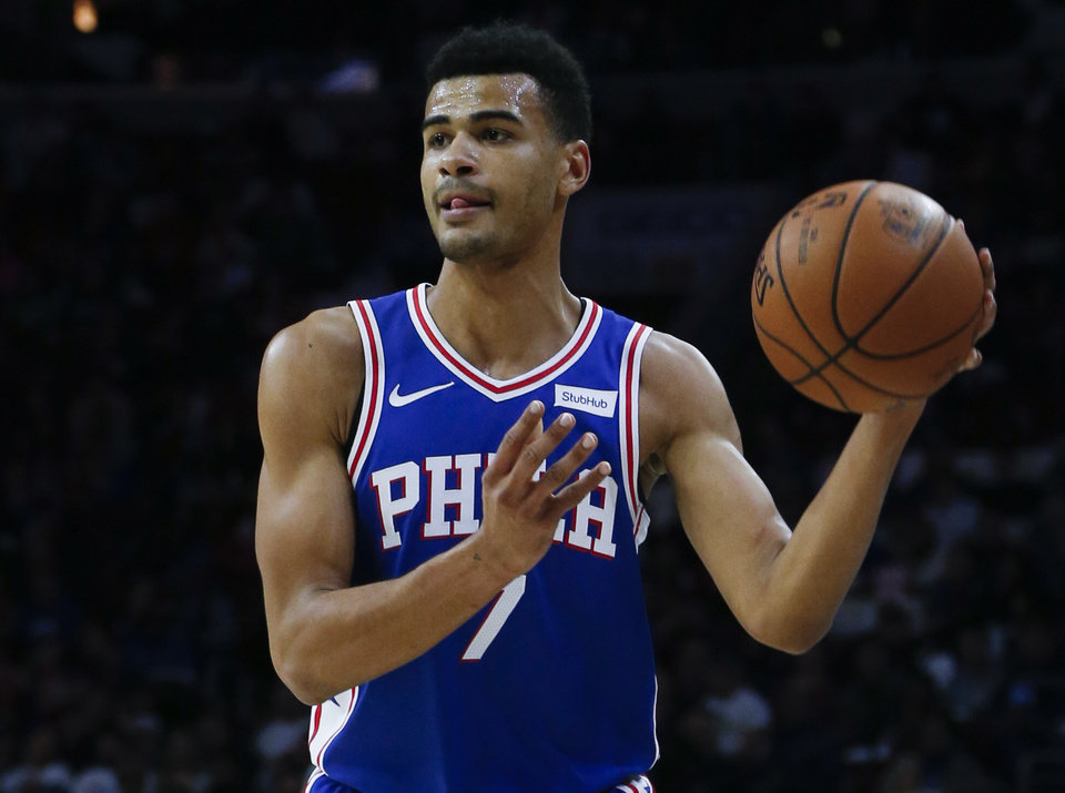 Photo -  Timothe Luwawu-Cabarrot averaged 5.8 points and 1.4 rebounds in 52 games last season for the Philadelphia 76ers. [AP PHOTO]