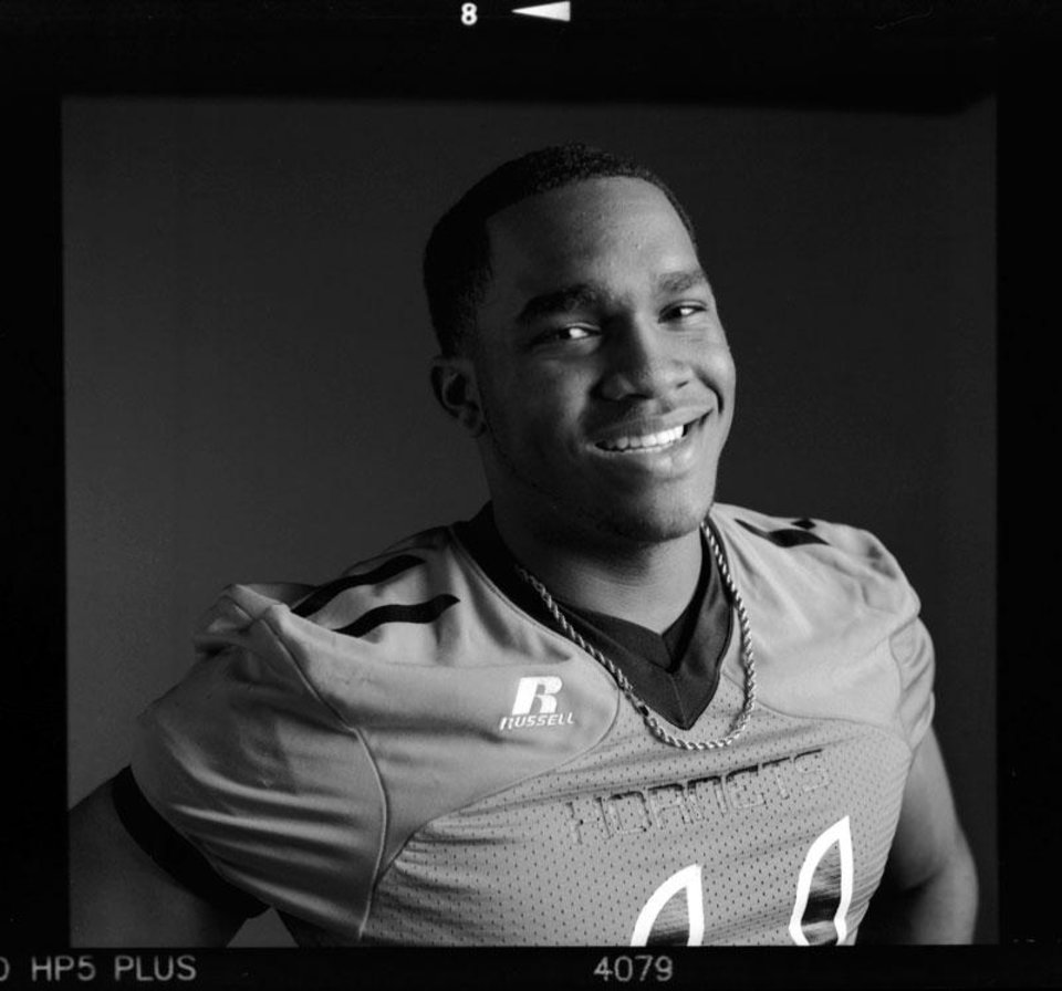 All-State high school football player Dominique Alexander of Booker T. Washington poses for a photo in Oklahoma City,  Wednesday, Dec. 19, 2012. Photo by Nate Billings, The Oklahoman
