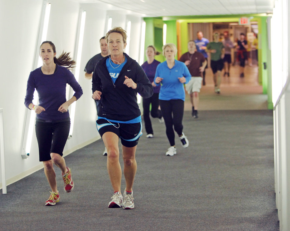 Runners make their way through the OKC Underground during the RUNderground 5K, part of the Bart & Nadia Sports & Health Festival in Oklahoma City, Saturday, Feb. 11, 2012. Photo by Nate Billings, The Oklahoman