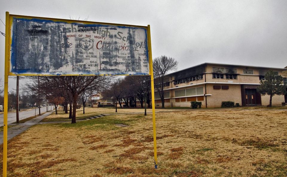 Photo - The old high school building is in the process of being sold and is scheduled for demolition.