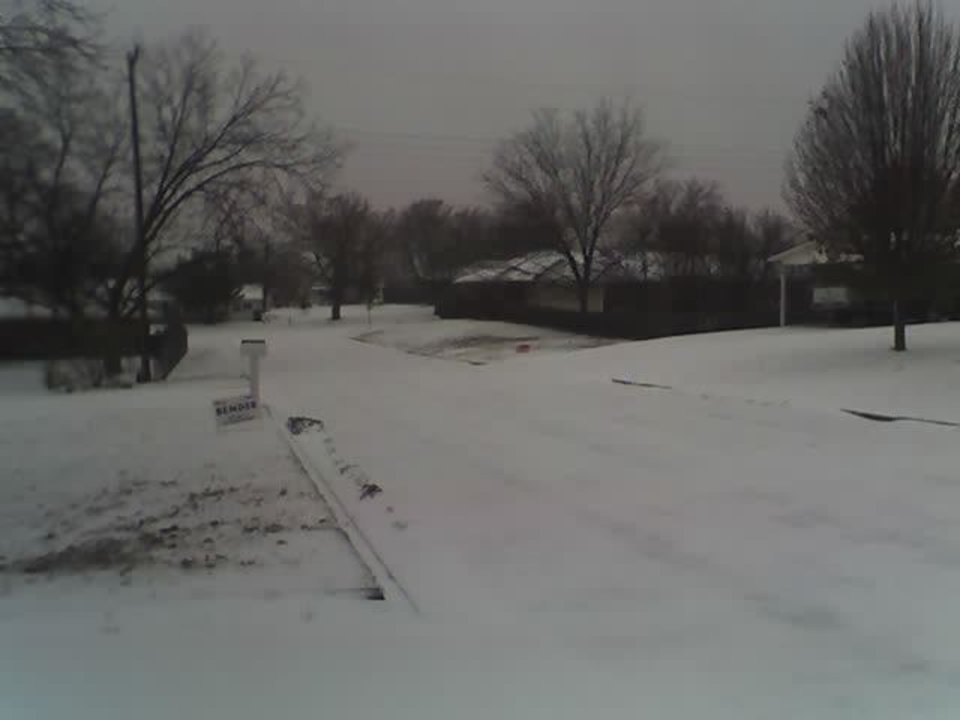 This looks like snow on my street, but it is ice/sleet.<br/><b>Community Photo By:</b> Jan Greenfield<br/><b>Submitted By:</b> Jan, Chandler