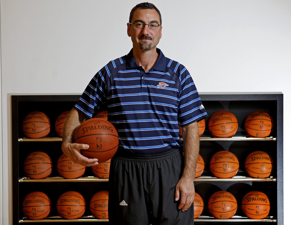 NBA BASKETBALL: Marc St. Yves, director of team operations, poses for a photo inside the Oklahoma City Thunder training facility in Oklahoma City, Saturday, June 9, 2012. Photo by Bryan Terry, The Oklahoman