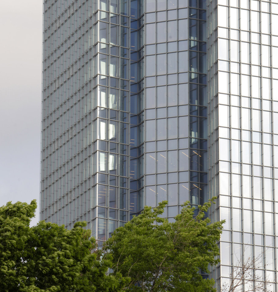 Photo - The Devon Tower at Devon Energy Center towers over downtown Oklahoma City at 333 W Sheridan Ave., a parcel with a partly contaminated past.  PAUL B. SOUTHERLAND - The Oklahoman
