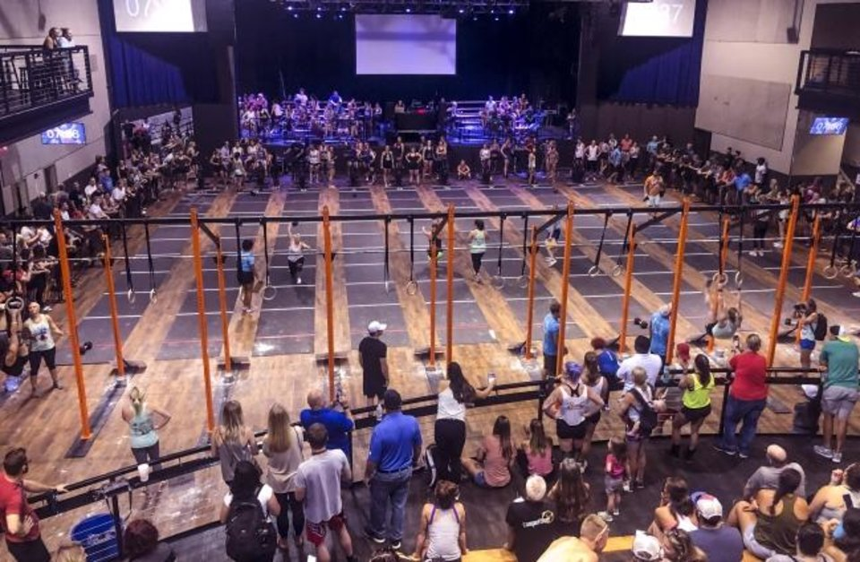 Photo -  Bricktown Throwdown, a regional CrossFit competition, was held in two arenas this year, one outdoors at Sheridan and Joe Carter avenues, and a second inside the Bricktown Event Center.  [PROVIDED BY BREWER ENTERTAINMENT]