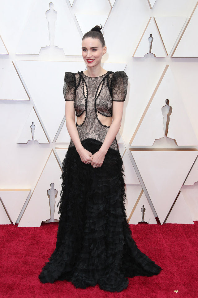 Photo - Feb 9, 2020; Los Angeles, CA, USA;  Rooney Mara arrives at the 92nd Academy Awards at Dolby Theatre. Mandatory Credit: Dan MacMedan-USA TODAY
