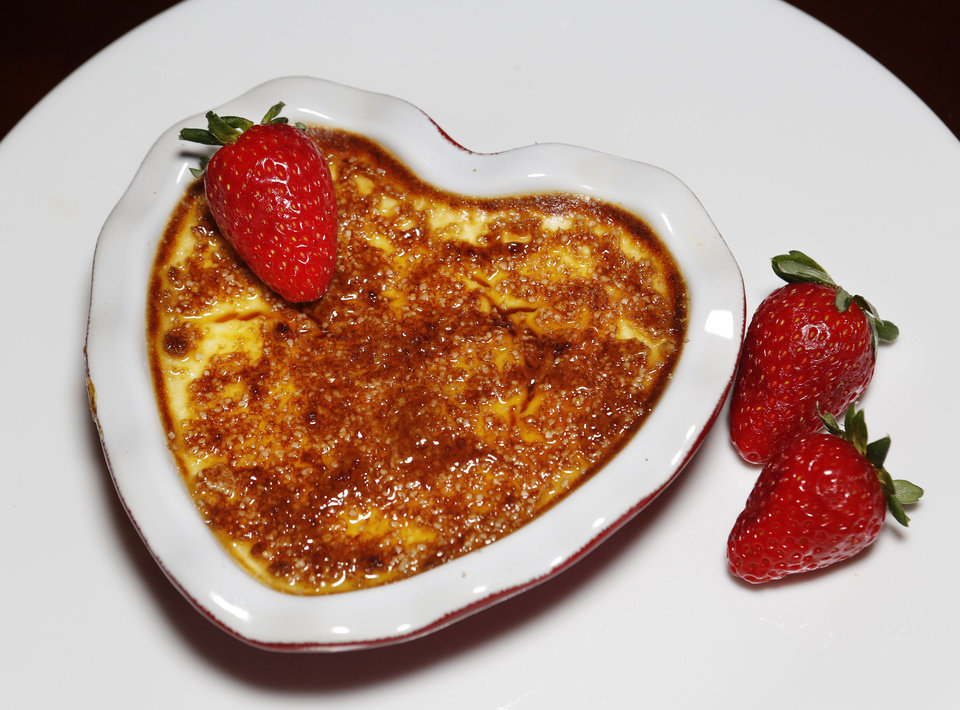 Creme Brulee for Valentine\'s Day in Oklahoma City, Thursday February 07, 2013. Photo By Steve Gooch, The Oklahoman