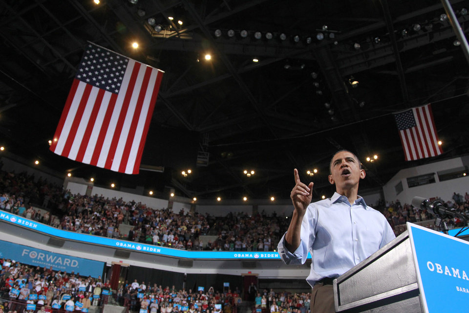 Photo -   President Barack Obama speaks during a campaign rally at The Ohio State University, Saturday, May 5, 2012 in Columbus, Ohio . (AP Photo/Haraz N. Ghanbari)