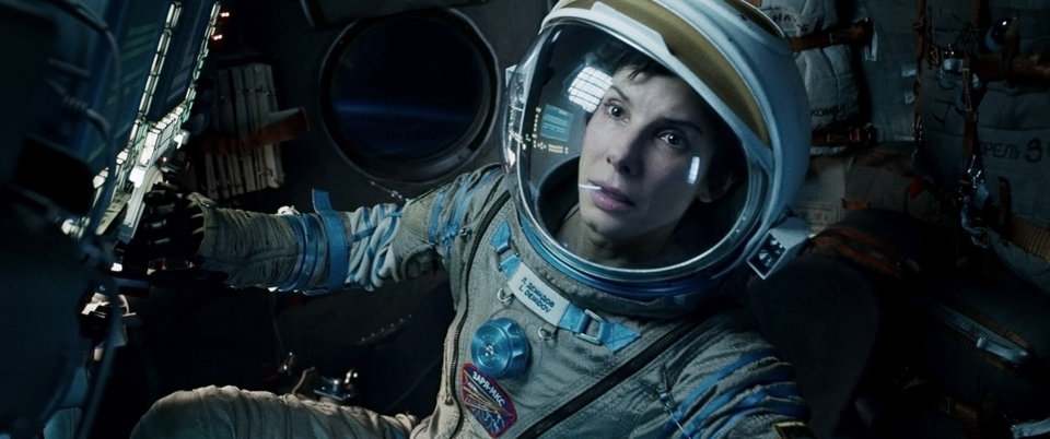 "Photo - This film image released by Warner Bros. Pictures shows Sandra Bullock in a scene from ""Gravity."" Bullock says making the lost-in-space movie directed by Alfonso Cuaron was her ""best life decision"" ever.  (AP Photo/Warner Bros. Pictures)"