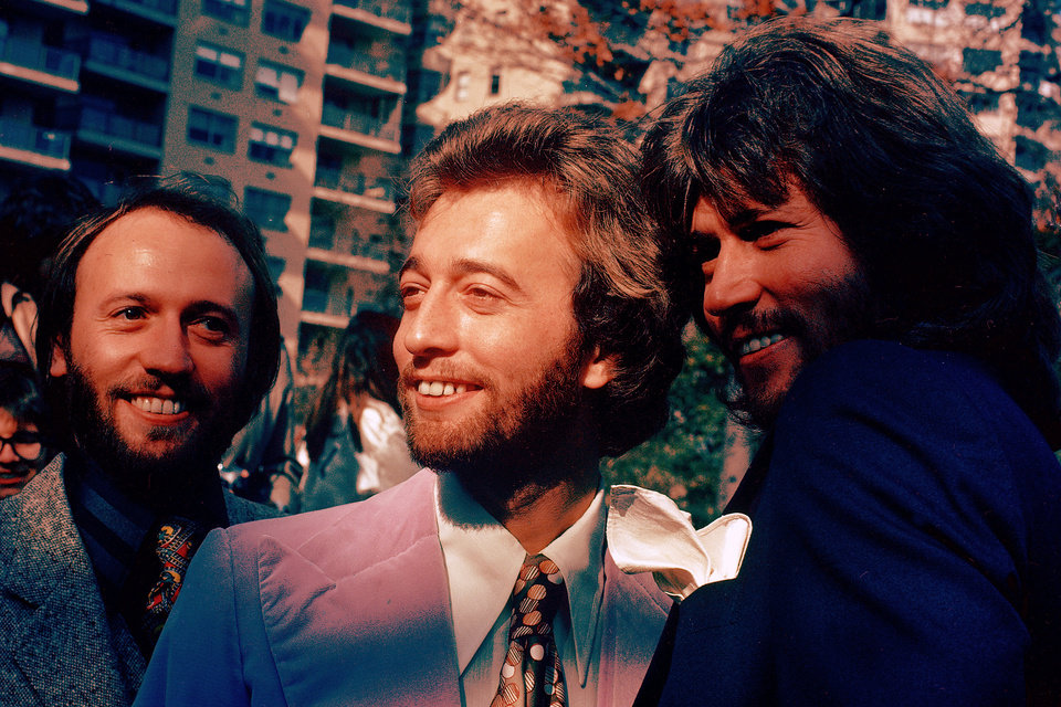 Photo -   FILE- In this undated file photo, from left, members of The Bee Gees Musical Group, Maurice Gibb, Robin Gibb, Barry Gibb pose for a photo. A representative said on Sunday, May 20, 2012, that Robin Gibb died at the age of 62. (AP Photo)