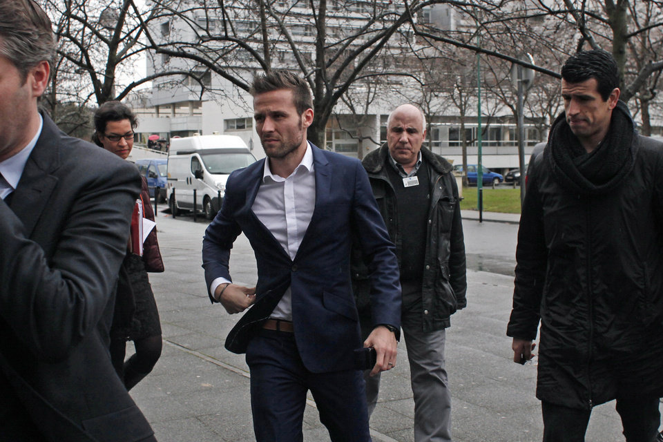 Photo - Newcastle United midfielder Yohan Cabaye arrives for a medical check at a Paris hospital before joining Paris Saint-Germain (PSG) soccer club, Wednesday, Jan. 29, 2014. Cabaye was set for a medical in France after PSG and Newcastle agreed a 20-million-pound (33-million-dollar) fee on Monday night, it was reported. (AP Photo/Thibault Camus)