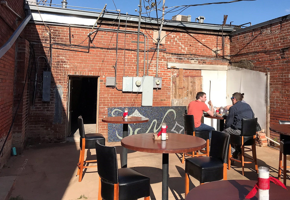 Photo - The space Saucee Sicilian will occupy will include a patio. [Dave Cathey/The Oklahoman]