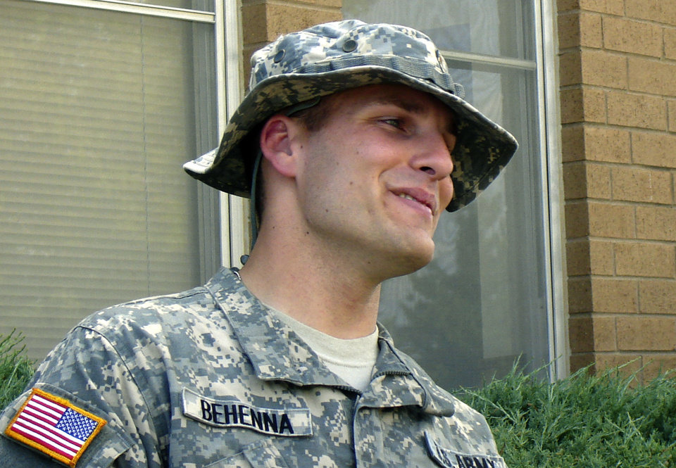 1st Lt. Michael Behenna on the the day he deployed for Iraq in September 2007. Photo provided by the Behenna Family