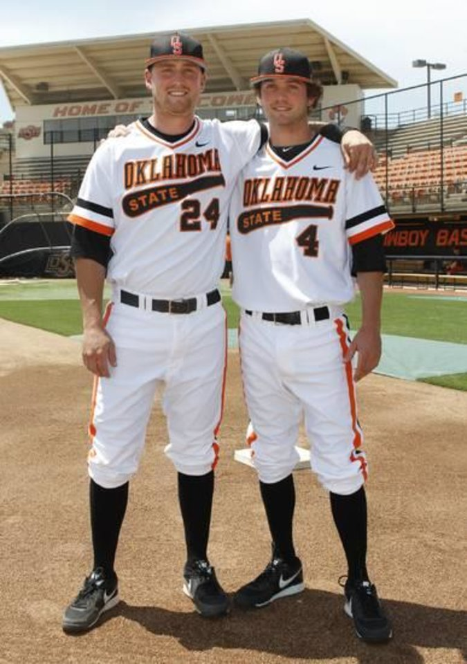 Photo -  Randy (left) and Brendan McCurry have enjoyed their season together.