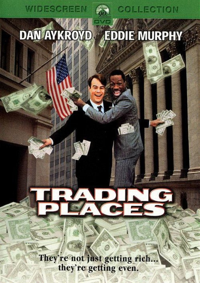"""Trading Places"" DVD cover. Paramound. <strong></strong>"
