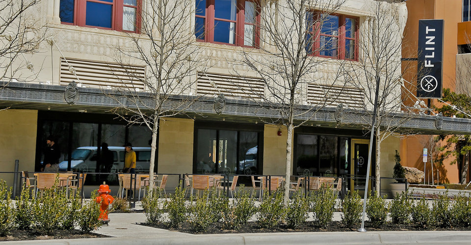 The patio at Flint opens Thursday with festivities planned throughout the St. Patrick's Day weekend.. <strong>CHRIS LANDSBERGER - CHRIS LANDSBERGER</strong>