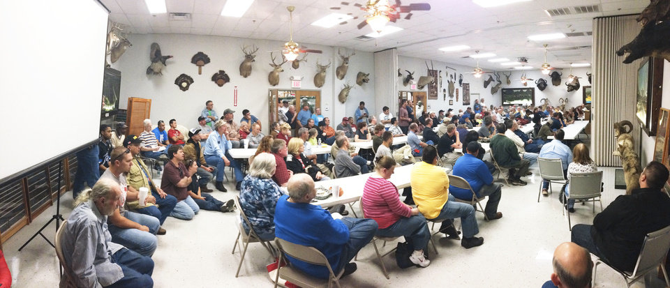 Photo - More than 100 people attended an informational session about the open-carry law at H&H Shooting Sports Complex in Oklahoma City.Photo provided by H&H Shooting Sports