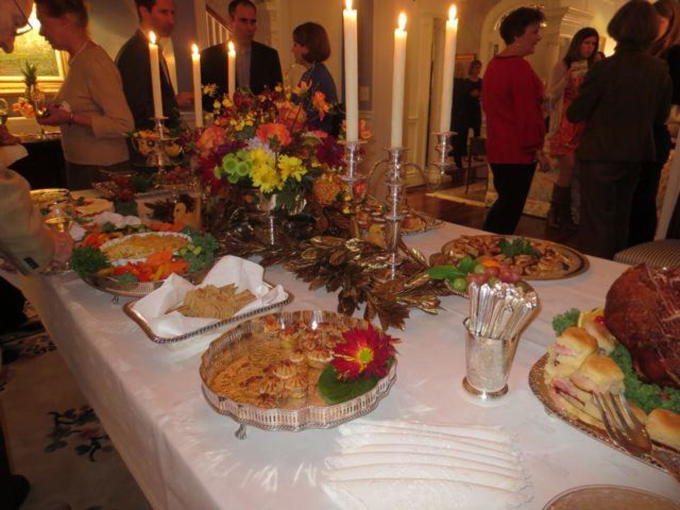 The dining room table was filled with wonderful foods. (Photo by Helen Ford Wallace).