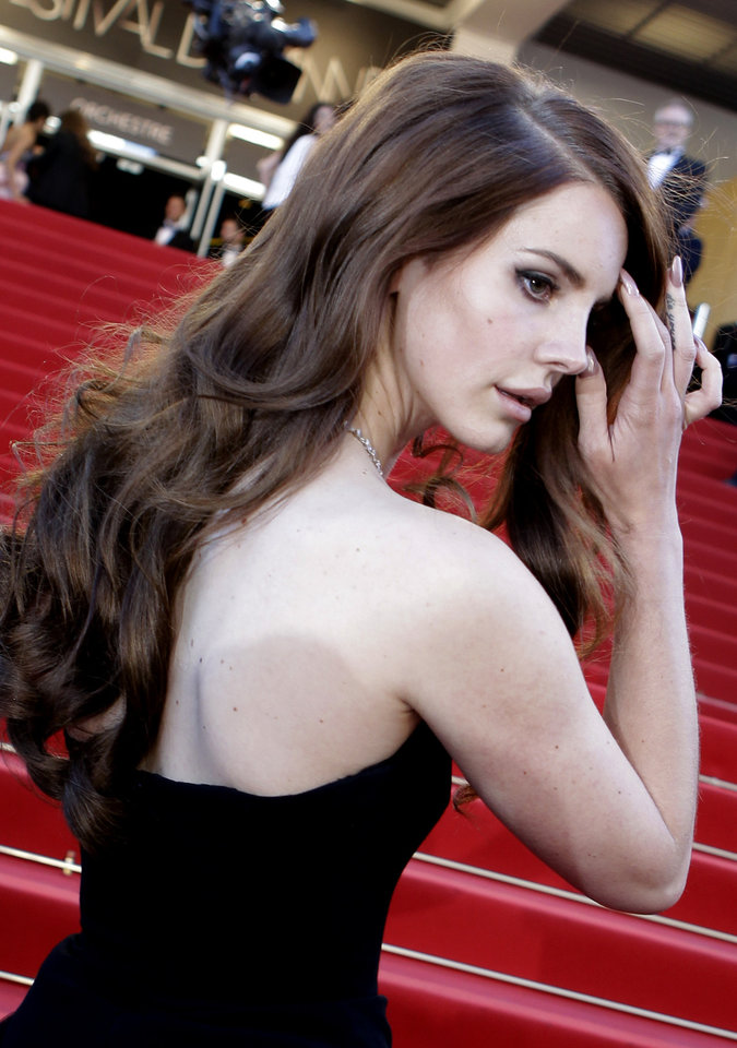 Photo - Singer Lana Del Rey arrives for the opening ceremony and screening of Moonrise Kingdom at the 65th international film festival, in Cannes, southern France, Wednesday, May 16, 2012. (AP Photo/Lionel Cironneau) ORG XMIT: CAN187