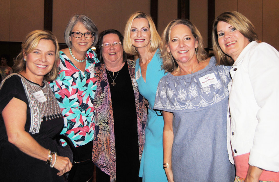 Photo - Lezlie Long Hudiburg, Judge Susan Witt Conyers, Jackie Lachance Henry, Penny Mills Voss, Lori Meyer Mahan, and Patti Gatewood Bollinger. PHOTO PROVIDED