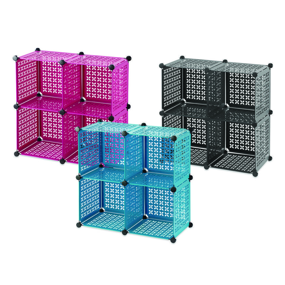 Photo - Cube grid offers convenient storage and organization for any living area, bedroom, dorm room and office. Sold at Bed, Bath & Beyond. Photo provided.
